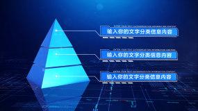 【34567块】科技金字塔层级分类AE模板