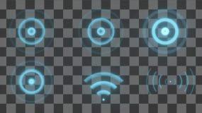 【原创}16款信号波(无限循环带通道)视频素材包