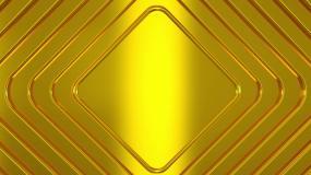 抽象金色方形震荡波舞台背景视频素材