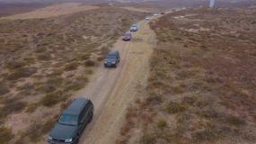 内蒙古通辽奈曼沙漠汽车拉力赛视频素材