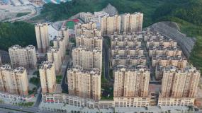 航拍城市居民住宅区视频素材