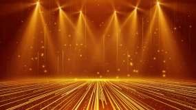 4K金色灯光舞台颁奖背景循环视频素材