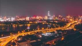 [有版权]4k济南航拍延时夜景视频素材