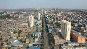 航拍山西忻州河曲县城_2160p视频素材