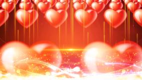 爱心阵列爱心奉献慈善公益婚庆婚礼背景视频素材