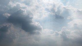 【HD天空】白天阳光照射云层循环延时拍摄视频素材