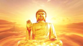 佛祖佛像佛教文化背景视频素材