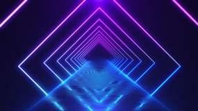 4K霓虹发光线条视频素材