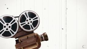 电影机放映机胶片转动影像纪录背景视频视频素材
