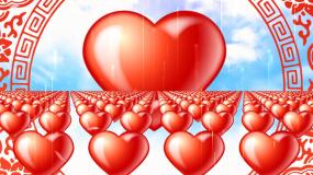 浪漫爱心阵列视频素材