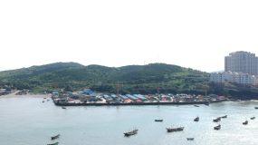 海港渔船航拍视频素材包