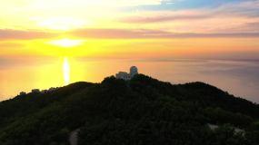 威海山东大学玛伽山天文台风光航拍视频素材
