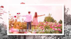水墨清新情侣画册图片展示ae模板02AE模板