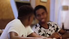 外国留学生黑人上课听讲视频素材包