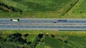 无人机航拍高速公路视频素材