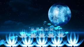 全息粒子嫦娥美景视频素材