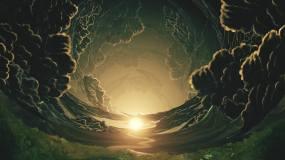 唯美梦幻的夕阳天空视频素材