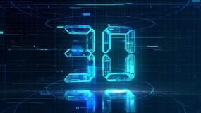 【30S】震撼科技30秒倒计时AE模板AE模板