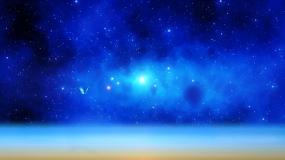 蓝色梦幻星空背景视频素材