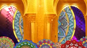 异域风情民族花纹图案印度舞肚皮舞背景视频素材