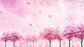 【4K循环】浪漫桃树桃花背景视频素材