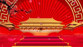 中国风宫殿故宫梅花LED舞台背景视频视频素材