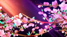梦幻光影三月桃花舞台晚会led大屏背景视频素材