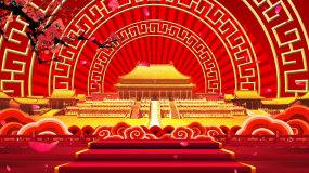 中国风宫殿故宫梅花LED舞台背景视频_0视频素材