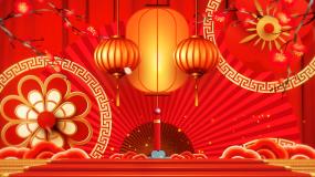 古典中国风红色喜庆节日新年春节背景视频素材