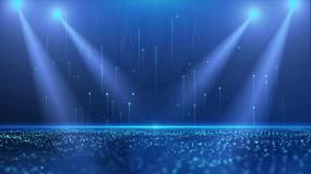 4K蓝色舞台灯光循环视频素材
