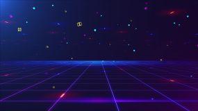 时尚空间粒子背景视频素材