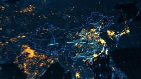 世界地图遍布全球AE模板