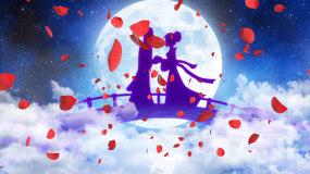 浪漫七夕情人节鹊桥相会爱情恋爱表白LED视频素材