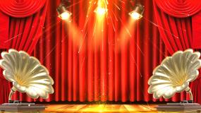 红色幕布灯光舞台晚会背景视频素材