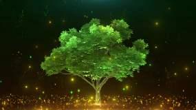 4K舞台树粒子背景循环视频素材
