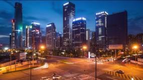 城市夜景车流视频素材