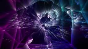 酷炫霓虹线条粒子电音DJ酒吧vj动感背景视频素材