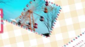 小清新明信片旅行vlog图文万能模板AE模板