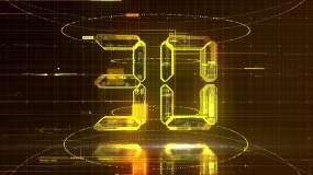 【30S】震撼金色30秒倒计时AE模板AE模板