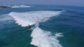 海水素材海边冲浪浪花视频素材