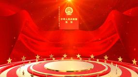 党政中华人民共和国宪法片头视频视频素材