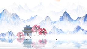 中国风山水文化古风江南LED背景视频视频素材