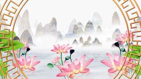 中国风古风山水江南美景LED背景视频视频素材