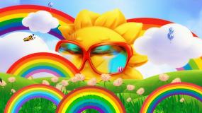 彩虹的约定阳光彩虹配乐成品背景视频素材