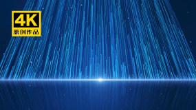 4K蓝色光线粒子上升视频素材