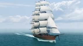 帆船乘风破浪视频素材