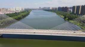 4K浑河大桥浑河视频素材