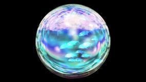 水晶球小鱼带通道视频素材