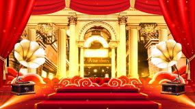 怀旧复古老上海百乐门舞台背景视频_02视频素材