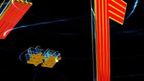 国庆71周年三维动画-1视频素材
